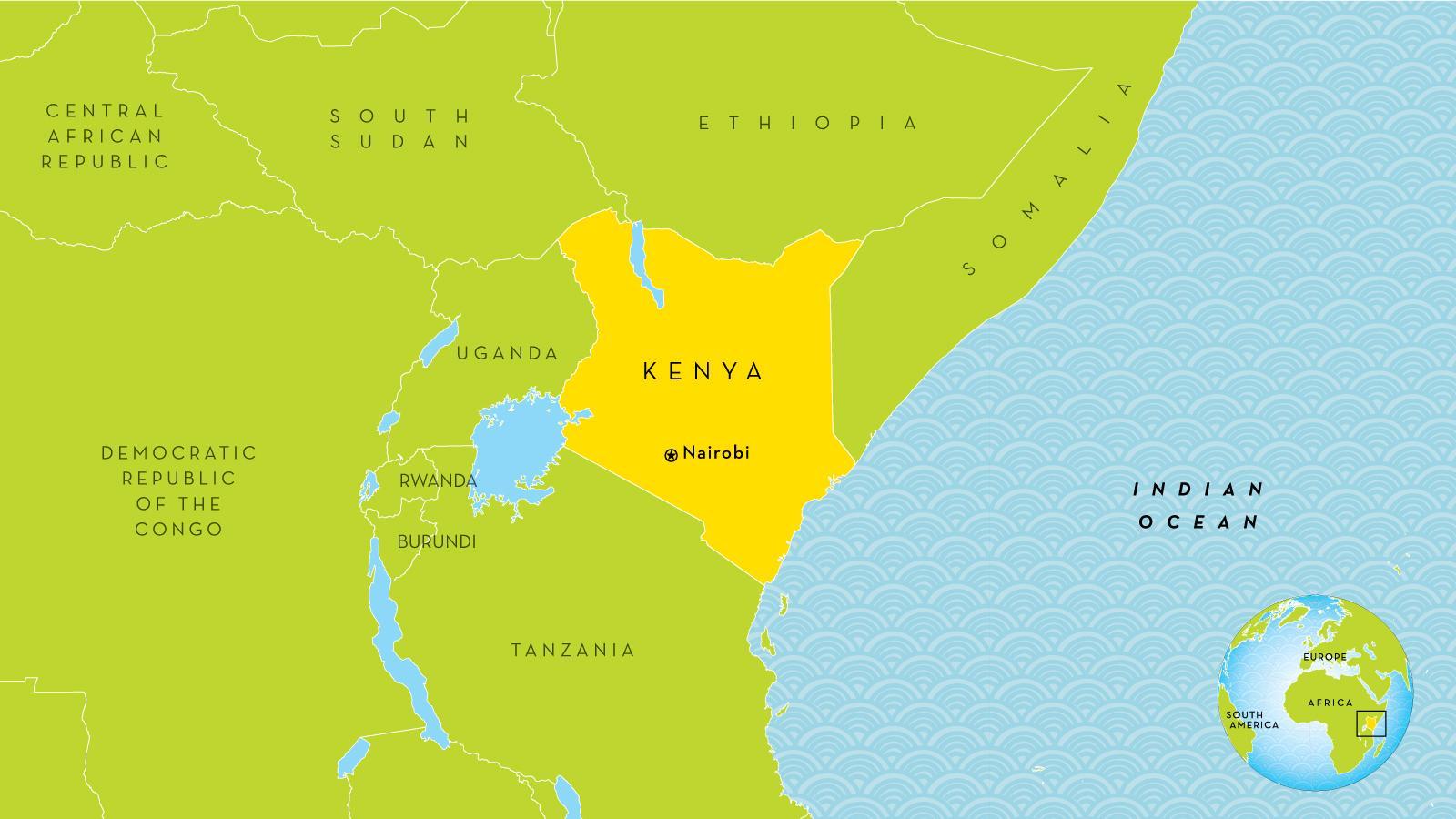 Karte Anzeigen.Nairobi Kenia Karte Nairobi Kenia Auf Der Karte Ost