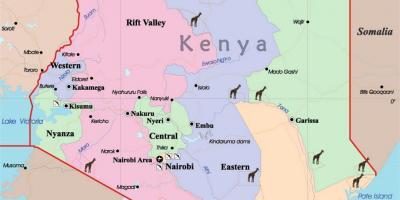 Mount Kenia Karte.Kenia Karte Karten Kenia Ost Afrika Afrika